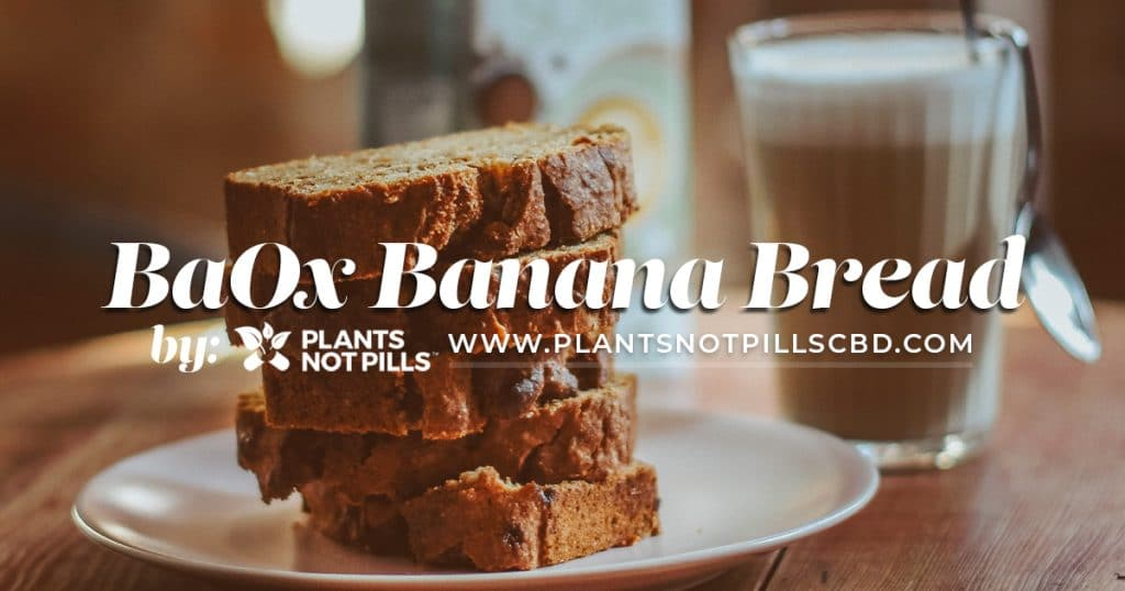 CBD infused banana bread